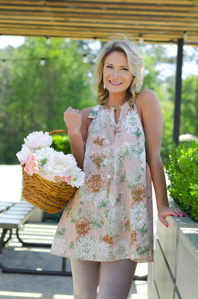 Believe You'll Bloom Floral Tunic