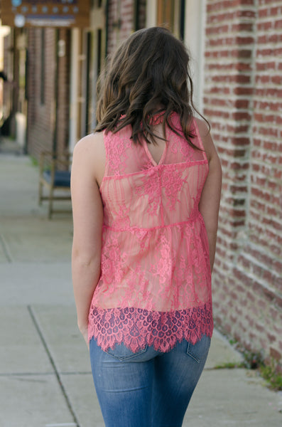 Blissful Beauty Lace Tank