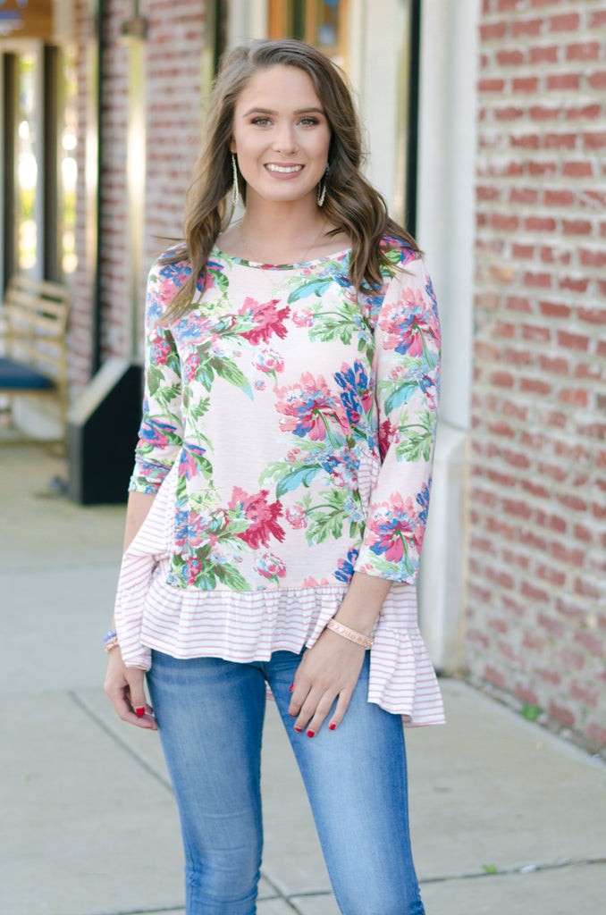 Endearing Floral Top