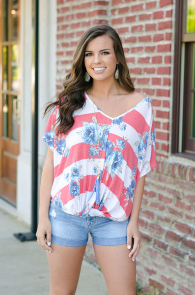 Baby Blooms Striped Top