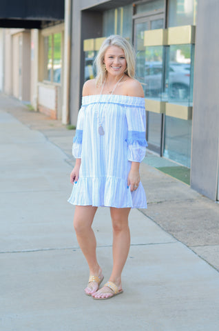 Feel the Breeze Off Shoulder Tunic