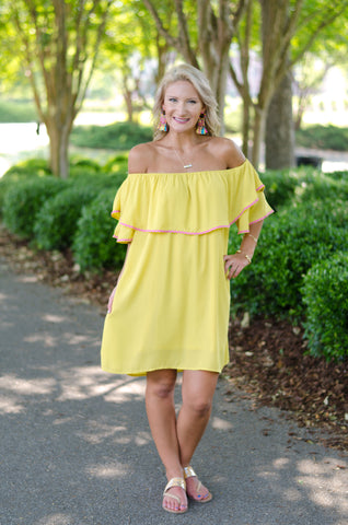 Fiesta Forever Off Shoulder Dress