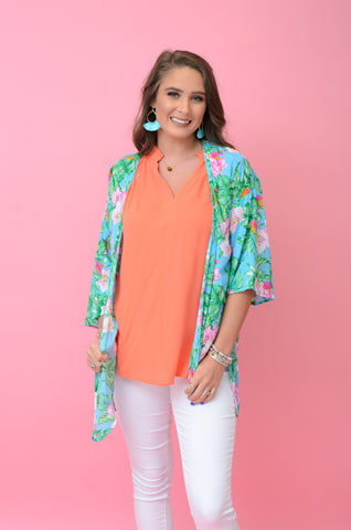 Tropic Like It's Hot Floral Kimono
