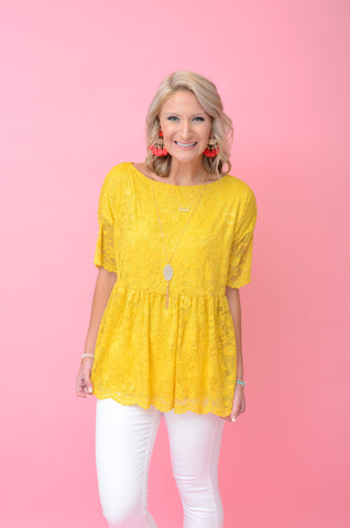Dandelion Fields Lace Top