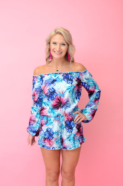 Tropical Fever Floral Romper