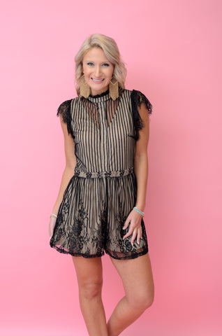 A Way with Words Lace Romper