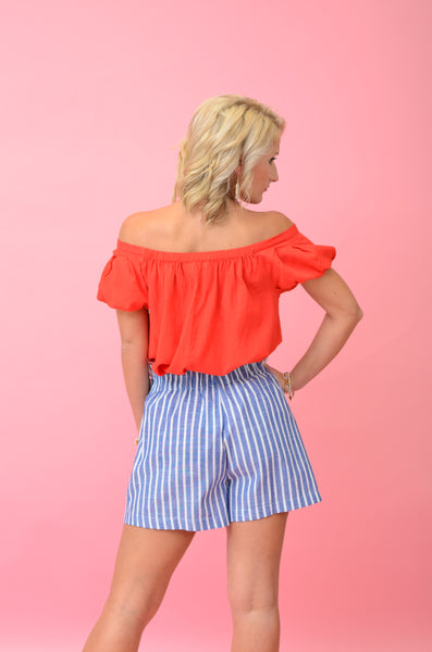 Firework Show Off Shoulder Top