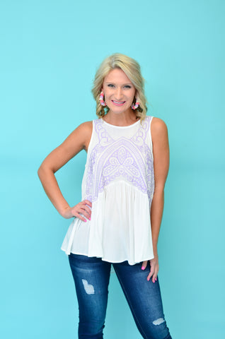 Simply Necessity Embroidered Tank