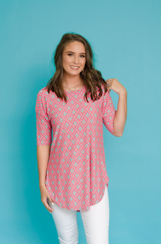 Can't Be Disguised Quatrefoil Top