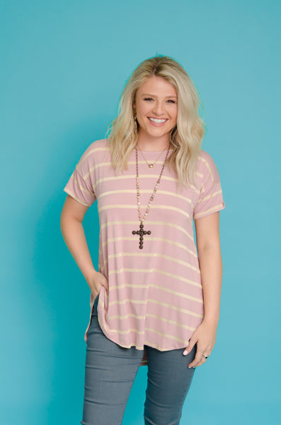 Golden Dreams Striped Top