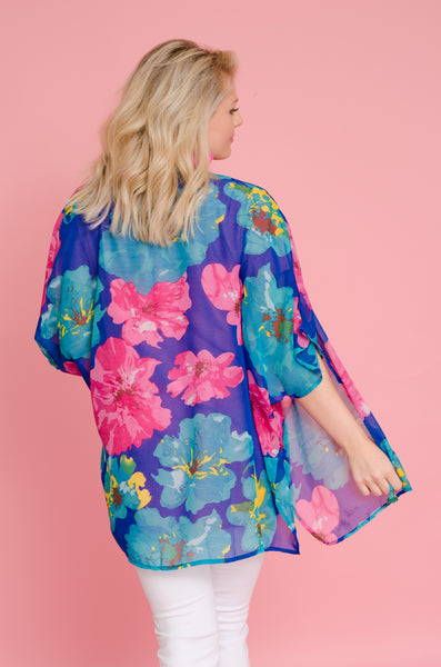 Don't Catch Feelings Floral Kimono