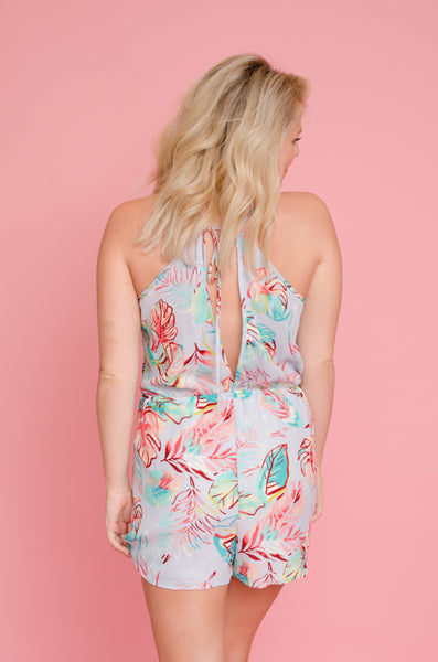 Tropical Dreams Floral Romper