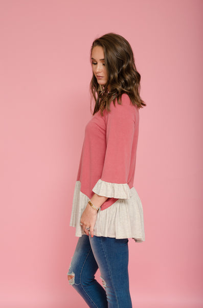 Spend Some Time Ruffle Top