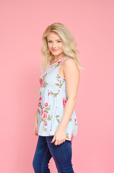 Floral Before Me Babydoll Tank