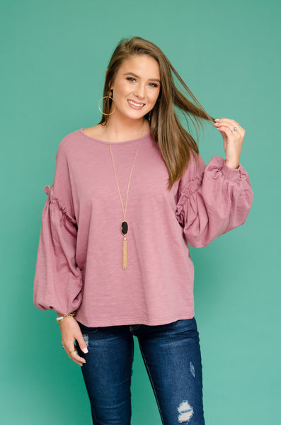 Loving You Bubble Sleeve Top