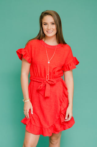Feeling Fancy Ruffle Sleeve Dress