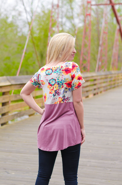 Only You Floral Twist Top