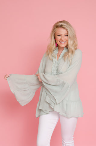 Breezy Babe Bell Sleeve Top