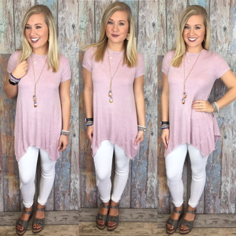Bella Blush Ribbed Top