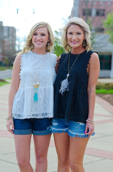 Dream a Little Lace Tank