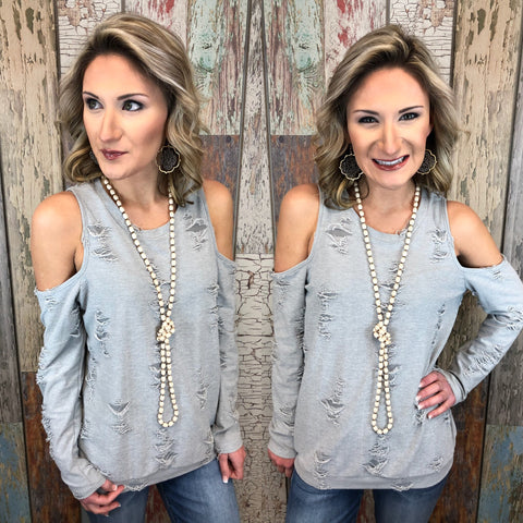Keep Your Distance Distressed Top