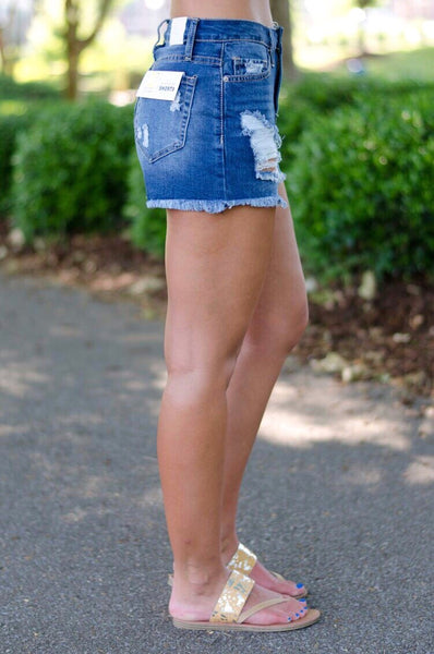 Top of the Game Denim Shorts