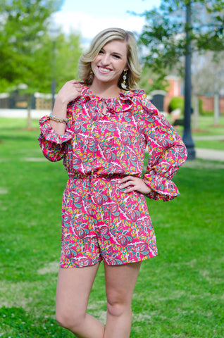 Must Be Love Paisley Romper