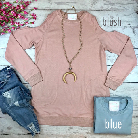 Cool in Cold Shoulder Top