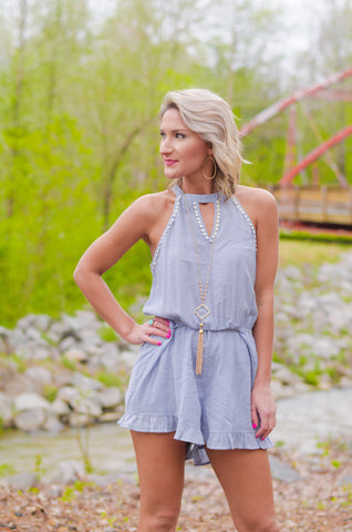 Smooth Sailing Striped Romper