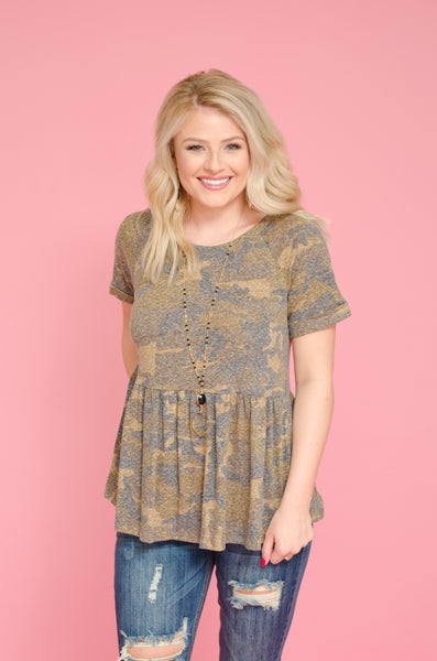 Can't Find Me Babydoll Top