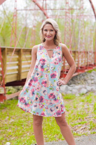 Swing into Spring Floral Dress