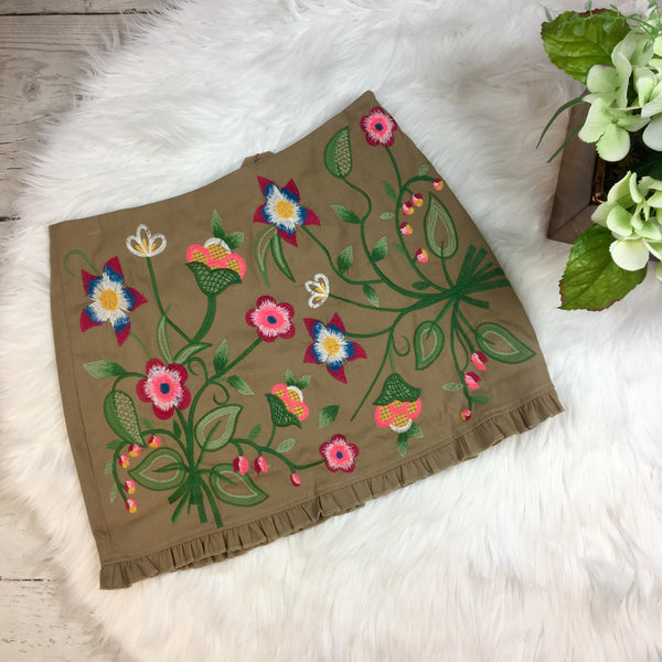 Into Bloom Embroidered Skirt