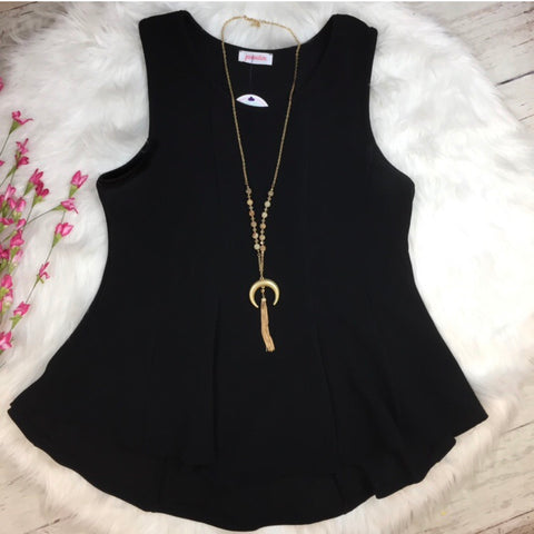 + Black Peplum Top