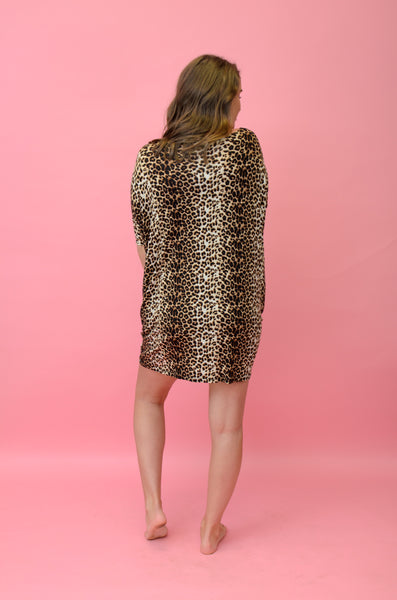 Wild Love Leopard Shift Dress