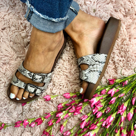 Silver Bell Sandals
