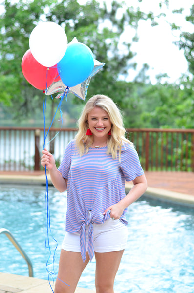Patio Party Striped Top