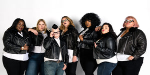 All 67 leather jacket group model shot