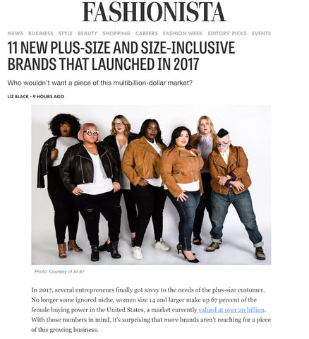 Fashionista Article on All 67 Plus Size Leather Jackets