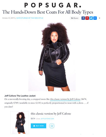 Pop Sugar Article on All 67 Plus Size Leather Jackets