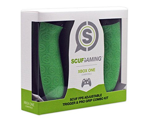 Spectra FPS - SCUF FPS Adjustable Trigger & Pro Grip Combo Kit - Xbox One Compatible (Green)