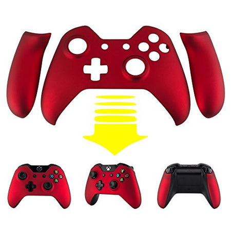 Spectra FPS - eXtremeRate® Soft Touch Red Front Shell Faceplate with Left Right Panel Handle Side Rails for Microsoft Xbox One Controller