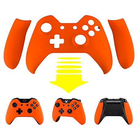 Spectra FPS - eXtremeRate® Orange Soft Touch Front Shell Faceplate with Left Right Grip Panel Handle Side Rails for Microsoft Xbox One Controller