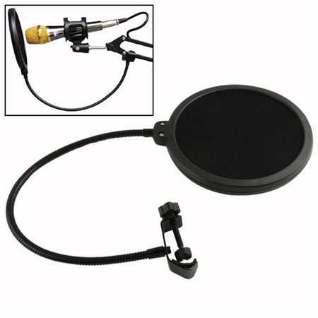 Spectra FPS - Double Layer Studio Microphone Pop Filter/ Swivel Mount / Mask Shied
