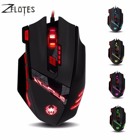 Spectra FPS - Gaming Mouse - Zelotes - T-90 9200DPI 8 Button Professional Optical Mouse (USB Wired)