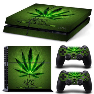 PS4 Console Skin - Weed Collection