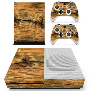 Xbox One S Console Skin - Wood Grain Collection