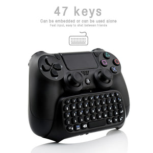Portable Mini Bluetooth Keyboard For Sony Playstation 4 Controller