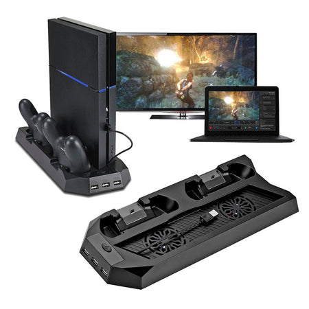 PS4 - Cooling Stand + Dual Controller Charger for Playstation 4