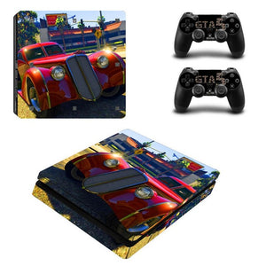 PS4 Slim Console Skin - GTA-V (Grand Theft Auto) Collection
