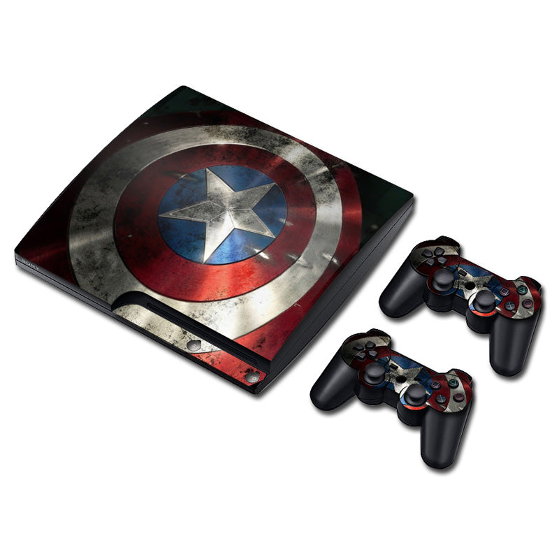 PS3 Slim Console Skin - Captain America